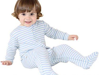Woolino Little Boys Footie Pajama Sleeper, Merino Wool, 2T, Blue