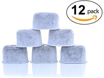 Replacement Charcoal Water Filters for Keurig 2.0 and older Coffee Machines - 12-Pack KEURIG Compatible Water Filters by K&J - Universal Fit NOT CUISINART Keurig Compatible Filters