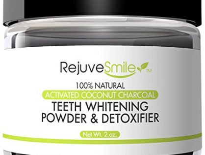 RejuveSmile Activated Charcoal Powder for Teeth Whitening & Detox, With Kaolin Clay & Coconut Oil, 2 oz. ~ 100% Natural, 6 Month Supply ~ Made in America With No Microbeads, Silica, or Fluoride