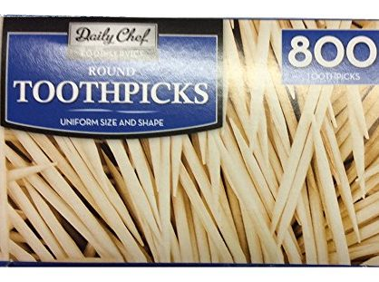 Bakers & Chefs Round Toothpicks, 4 per 800 Count