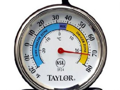 Taylor Precision Products Classic Series Large Dial Thermometer Freezer/Refrigerator