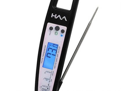 BBQ, Candy, Charcoal Grill, Smoker for Accurate Internal Temperature Black - VVH Instant Read Digital Meat Thermometer, Best Wireless Food Probe for Cooking