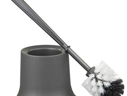 Home Basics Toilet Brush Holder Grey