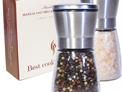 Kitchen To Table Use! Spice Grinding Pair, set of 2 - Best Salt and Pepper Grinder Set, Stainless Steel & Adjustable Coarseness Mills - Easy to Refill Shakers
