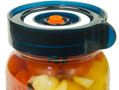 Mold Free - Easy Fermenter Wide Mouth Lid Kit: Simplified Fermenting In Jars Not Crock Pots! Make Sauerkraut, Kimchi, Pickles Or Any Fermented Probiotic Foods. 3 Lids, Extractor Pump & Recipe eBook