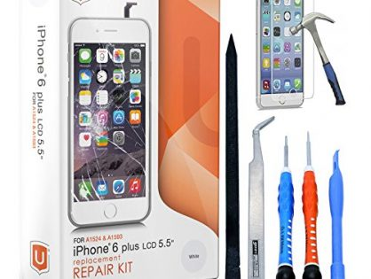 iPhone 6 Plus Screen Replacement - LCD Premium Complete Repair Kit with Tools - Easy Manuals Videos and Instructions NOT FOR 6S PLUS ONLY FOR 6 PLUS - with Glass Screen Protector by uRepair - White
