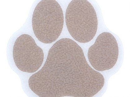 Adhesive Paw Bath Treads in Brown