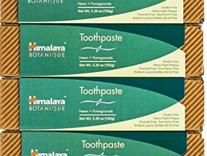 Himalaya Neem and Pomegranate Flouride -free Toothpaste, 150gm/5.29 Ounce 4 Pack