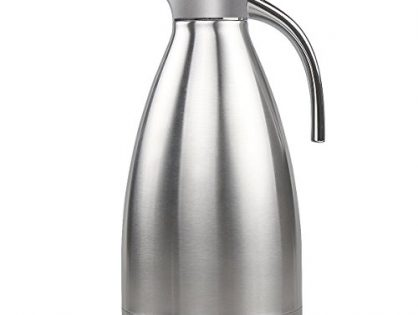 68 Oz Stainless Steel Thermal Coffee Carafe Double Wall Vacuum Insulated with Press Button Silver by FULITY