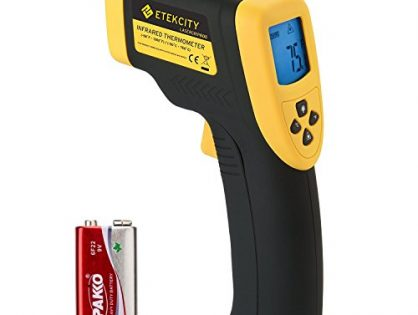 1382℉ -50℃ to 750℃, Yellow/Black - Etekcity Lasergrip 800 Digital Infrared Thermometer Laser Temperature Gun Non-contact -58℉
