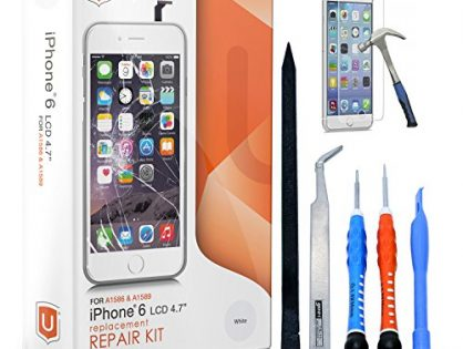 Easy Manuals Videos and Instructions - ONLY FOR iPHONE 6 NOT 6S by uRepair - iPhone 6 Screen Replacement White LCD Premium Complete Repair Kit with Tools