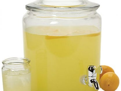 Anchor Hocking Heritage Hill Glass Beverage Dispenser with Spigot, 2 Gallon