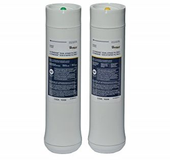 Whirlpool WHEEDF Dual Stage Replacement Pre/Post Water Filters Fits Systems WHADUS5 & WHED20