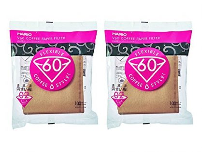Hario 02 100-Count Coffee Natural Paper Filters, 2-Pack Value Set Total of 200 Sheets