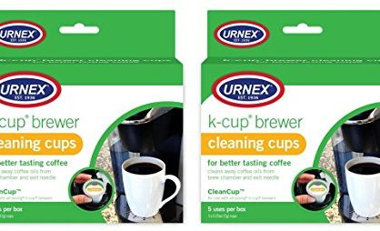Clean Cup Single Cup Brewing Cleaning Cups, 0.25-Ounce, Brown/Green, 5-Count Set of 2