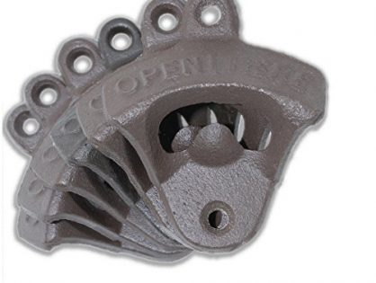 6 Cast Iron Wall Mount Bottle Openers | Mounting Hardware Included | Indie Craft Supply