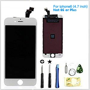 "Replacement LCD Display & Touch Screen Digitizer Assembly for iPhone 6 4.7"" repair white …"