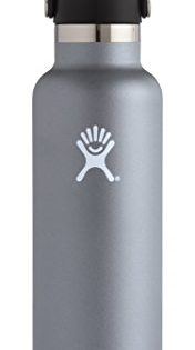 Hydro Flask 24 oz Double Wall Vacuum Insulated Stainless Steel Leak Proof Sports Water Bottle, Standard Mouth with BPA Free Flex Cap, Graphite