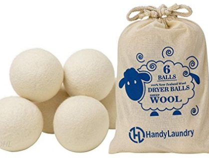 Pack of 6 - Wool Dryer Balls - Natural Fabric Softener, Reusable, Reduce Wrinkles, Saves Drying Time. Anti Static Large Felted Wool Clothes Dryer Balls is a Better Alternative to Plastic Balls.