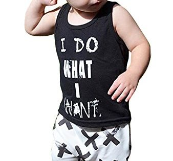 2pcs Newborn Toddler Kids Baby Boys Girls Black T-shirt Tops+White Cross Print Pants Outfits Clothes Set 1002-3years