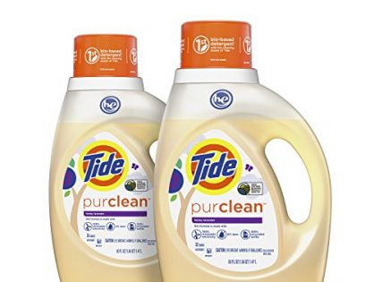 Tide Purclean Liquid Laundry Detergent, Honey Lavender Scent, 100 Fl Oz 64 Loads