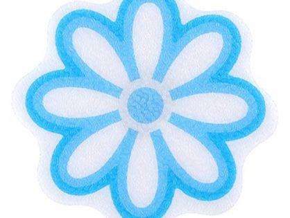 Adhesive Daisy Bath Treads in Blue