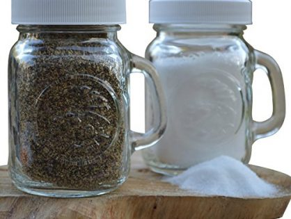 Golden Harvest, Ball Mason Jar Glass Salt and Pepper Shakers Clear, Set of 2