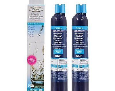 "Whirlpool 4396841P PUR ""Fast Fill"" FILTER3 Refrigerator Water Filter 2-Pack"