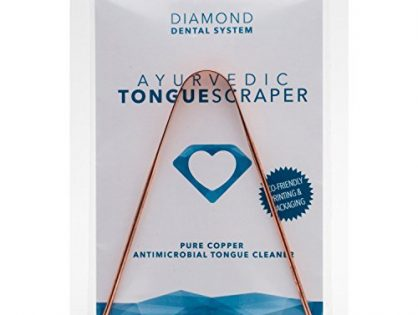 Tongue Scraper Ayurvedic Pure Copper Antimicrobial Tongue Cleaner - Diamond Dental System by TruthPaste
