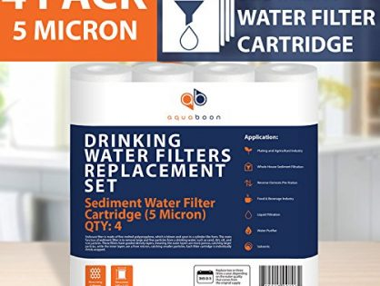 Aquaboon 5MIC-4PK 5-Micron Sediment Water Filter Cartridge 4-Pack