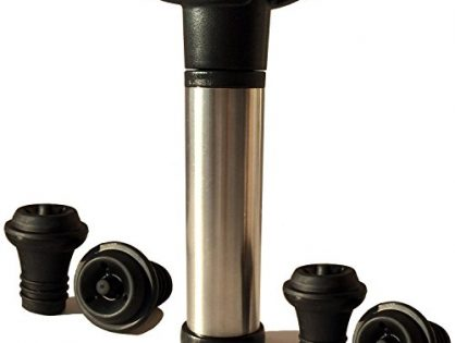 Proimb Wine Saver Pump Preserver with 4 Vacuum Bottle Stoppers