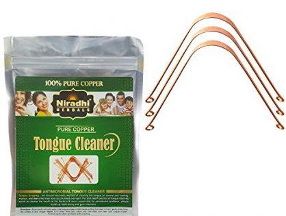 Ayurvedic Copper Tongue Cleaner / Scrapper By Niradhi Herbals Pack of 3