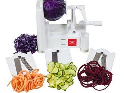 Paderno World Cuisine A4982799 Tri-Blade Vegetable Spiral Slicer Technical Specification Warranty & Support Feedback