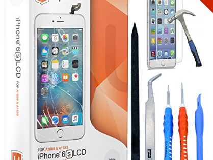 ONLY FOR iPHONE 6S by uRepair - iPhone 6s Screen Replacement White LCD Premium Complete Repair Kit with Tools -Easy Manuals Videos and Instructions,3D Touch 6s