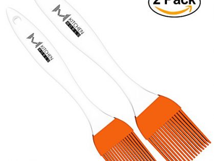 Desserts Baking - 2 Recipe eBooks - Good for Grilling Marinating Turkey Baster and Barbecue Utensil - mKitchen Orange Silicone Basting Pastry Oil Brush Set of 2