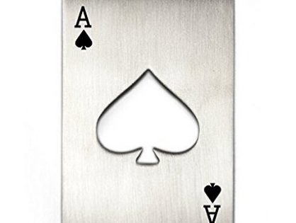 Credit Card Size Casino Poker Shaped Bottle Opener 1