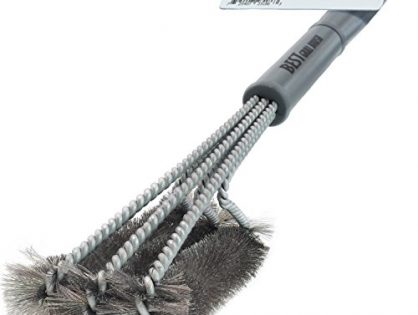 "Perfect Cleaner & Scraper for Grill Cooking Grates, Racks, & Burners - Best BBQ Grill Brush STAINLESS STEEL 18"" Barbecue Cleaning Brush with Wire Bristles and Soft Comfortable Handle"