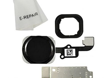 Home Button Key Flex Cable Assembly with Rubber Ring Replacment Part for Iphone 6 and 6 Plus Black