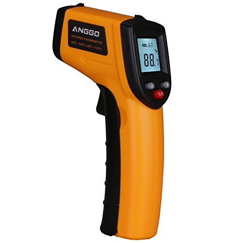 ANGGO IR Infrared Digital Temperature Gun Thermometer with Laser Point and LED Backlight -58 °F to 716°F