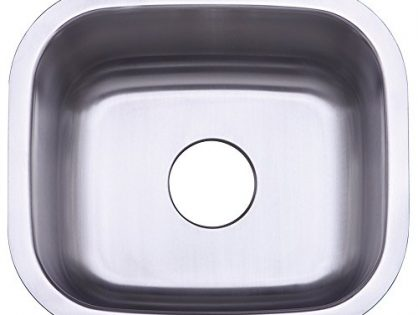 Kingston Brass Gourmetier GKUS16168 Undermount Single Bowl Bar Sink 16x16x8 LxWxD Brushed Stainless Steel