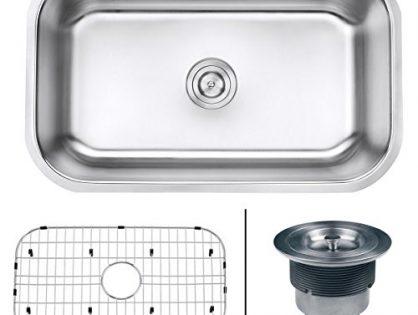 "Ruvati RVM4250 Undermount 16 Gauge 30"" Kitchen Single Bowl Sink, Stainless Steel"