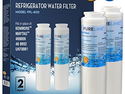 Maytag UKF8001 PUR Fast Flow Water Filter Replacement UKF8001AXX, EDR4RXD1, Whirlpool 4396395, Puriclean II, Kenmore 9006 By Pure Line 2 PACK