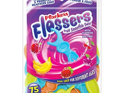 Plackers Kids Flossers, 75 Count Pack of 4