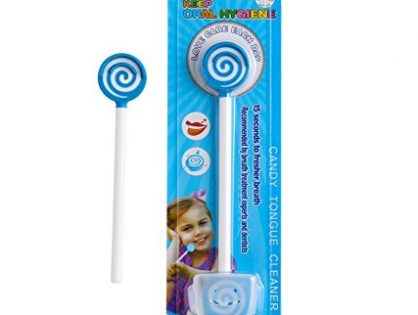 Kids Tongue Cleaner With Smiley Cover