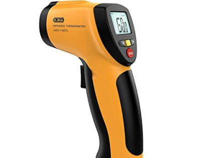 Dr.meter Non-contact Digital Laser Infrared Thermometer Temperature Gun with Backlit LCD Display-122℉~1022℉,IR-20