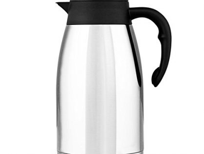 AMYAMY 70 Ounce Food Grade Double Wall 304 Stainless Steel Vacuum Insulated Carafe Vacuum Insulated Water Pitcher with Lid Coffee Maker Thermal Carafe
