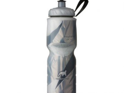 Polar Bottle Insulated Water Bottle 24-Ounce Black Graphic