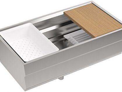KOHLER K-5540-NA Prolific Undermount Single Bowl Kitchen Sink with Accessories, 33 x 17-3/4-Inch, Stainless Steel
