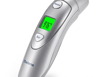 Metene Medical Forehead and Ear Thermometer,Infrared Digital Thermometer Suitable For Baby, Infant, Toddler and Adults with FDA and CE approved