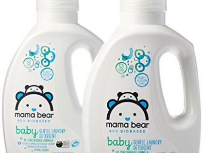 Mama Bear Gentle Baby Laundry Detergent, 95% Biobased, Bearly Blossom Scent, 106 Loads Pack of 2, 53 loads each